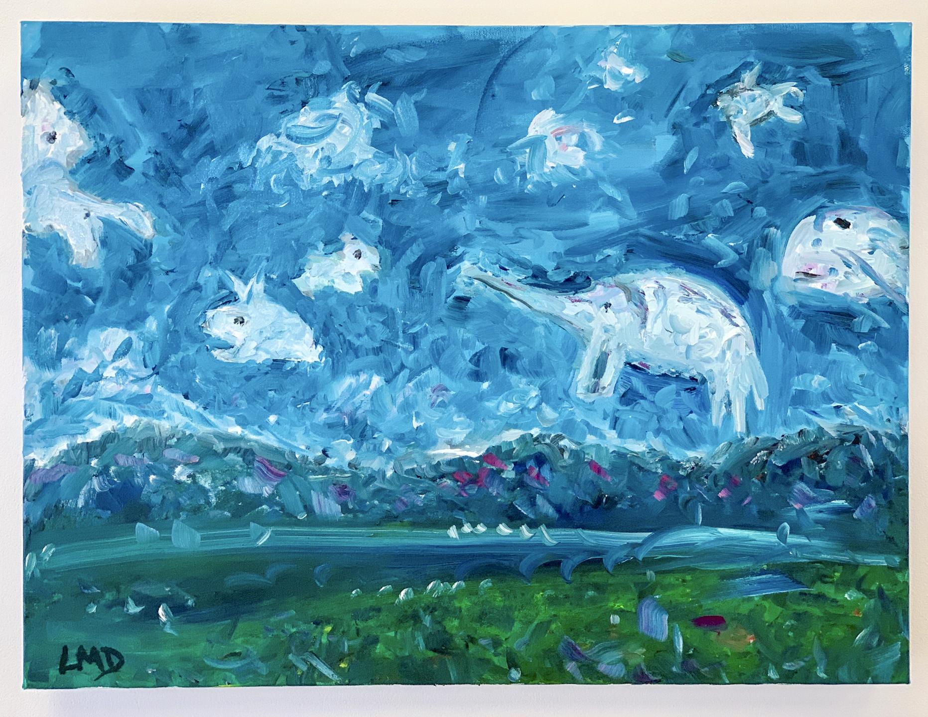 """Linda Dulleba - """"Lazy Afternoon Landscape"""" For Sale: $600"""
