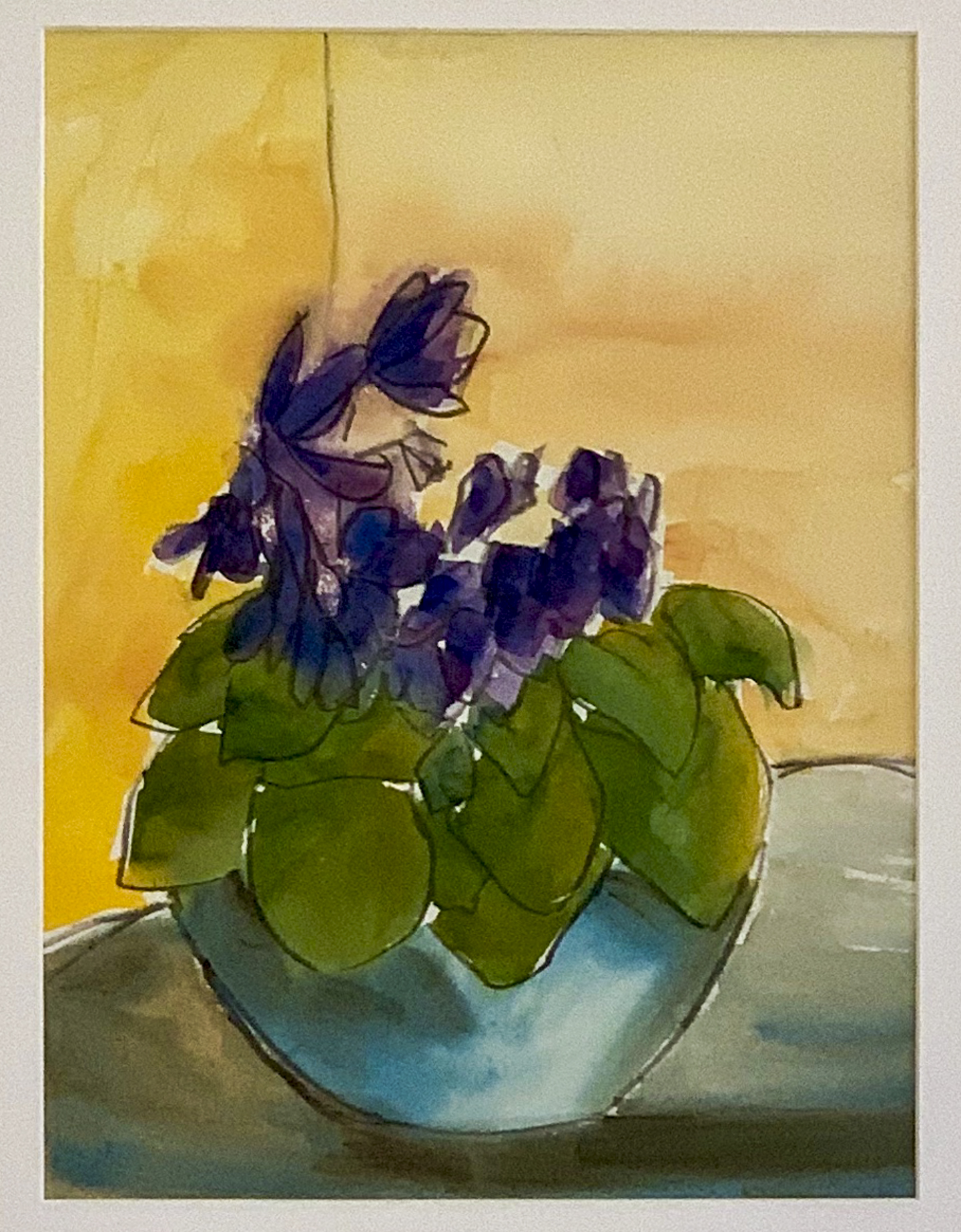 "Cindy A. Morgan - ""Violets"" For Sale: $390"