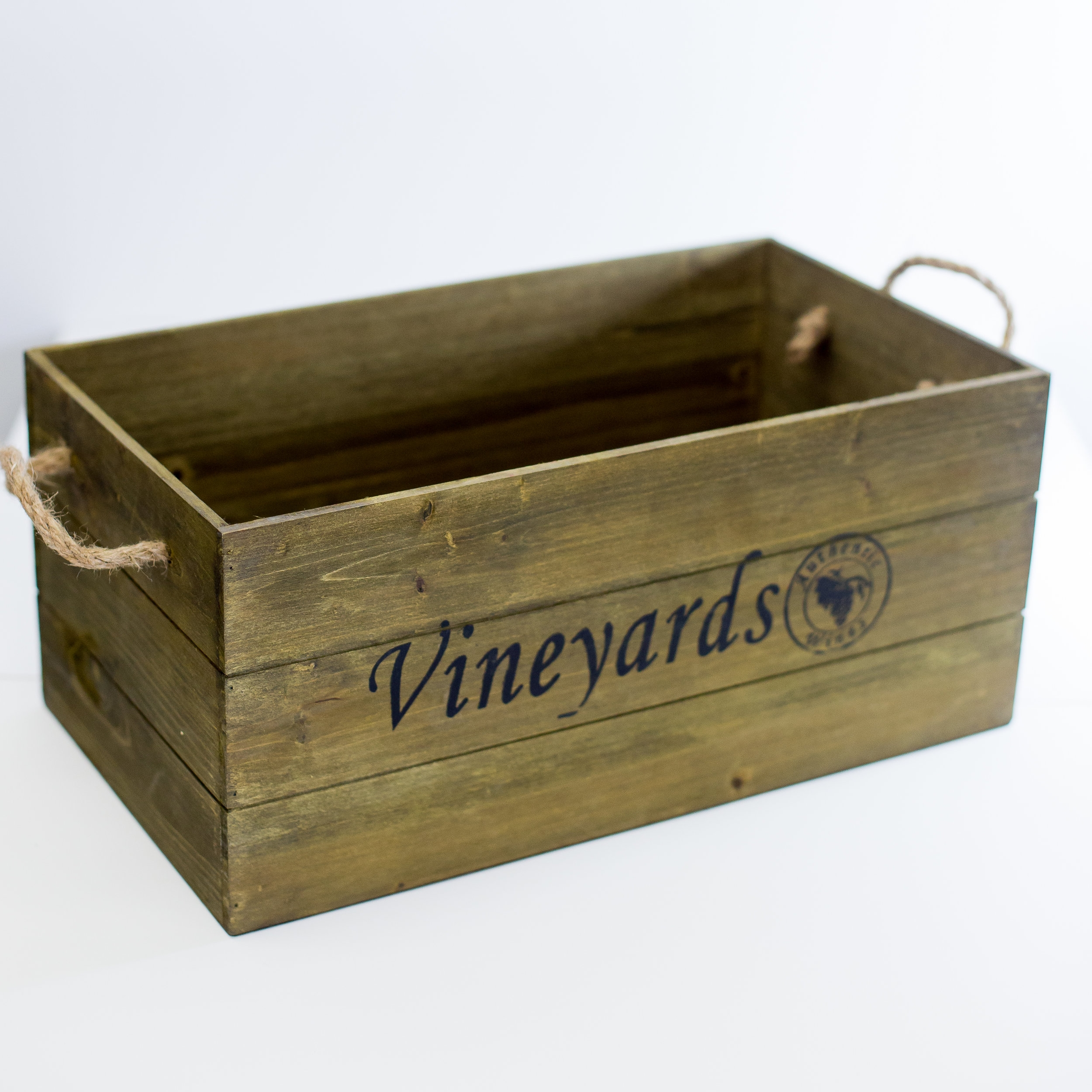 VINEYARDS WOODEN BOXES 'WINES OF THE WORLD' -