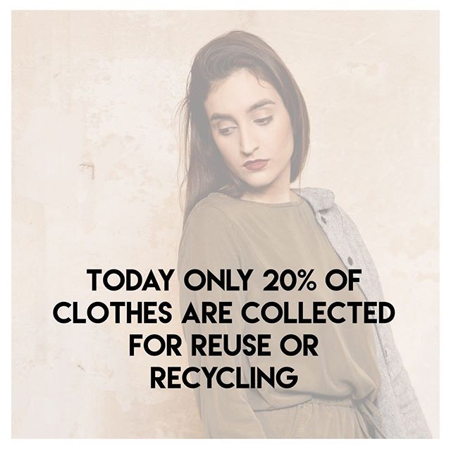 "Today only 20% of clothes are collected for reuse or recycling⠀ ⠀ Legenda:⠀ You know all the clothes that you no longer want? ⠀ As capitalist humans we were trained by mkt to shop, shop, shop and #fastfashion came to tell us that is ok to throw aways ""old"" clothes so you can make space for more & new clothes , the more the merrier right?⠀ Wrong!⠀ Think about it: there are more than 7 billion people on earth right now, they are all like you and me, and they all have the the right to shop for more and throw aways their clothes, but what happens if we all keep doing this? Where are we going to end up? When does it stop?⠀ #therisnoplanetb #stopshopping #zerowaste⠀ ________________________________________________________⠀ Sabe todas as peças que você não quer mais?⠀ Como capitalistas todos nós somos treinados à comprar, comprar, comprar, e fast fashion veio para nos dizer que tudo bem jogar fora as suas peças e compra peças novas! Quanto mais melhor certo?⠀ ERRADO⠀ Pense nisso: mais de 7 bilhões de pessoas no mundo no momento, todos como eu e você, com o direito de comprar mais roupa e jogar fora suas peças, mas, o que acontece se continuarmos nesse ciclo? Onde vamos parar? Quando vamos parar?⠀ #naoexisteplanetab #paredecomprar #zerodespercicio⠀ .⠀ .⠀ .⠀ #desvista #creativefashion #slowfashion #consciousfashion #smartfashion #loveyourwardrobe #wearrewear #createtorenew #modaverde"