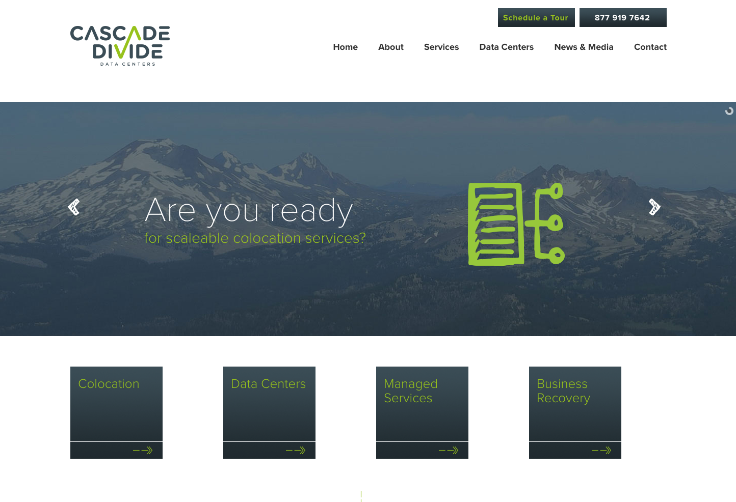 Cascade Divide Data Centers
