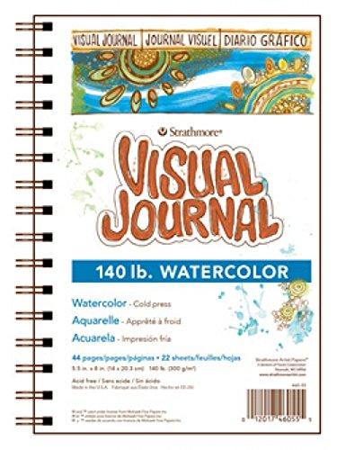 "Strathmore Visual Watercolor Journal, 140 LB 5.5""x8"" 22 Sheets"