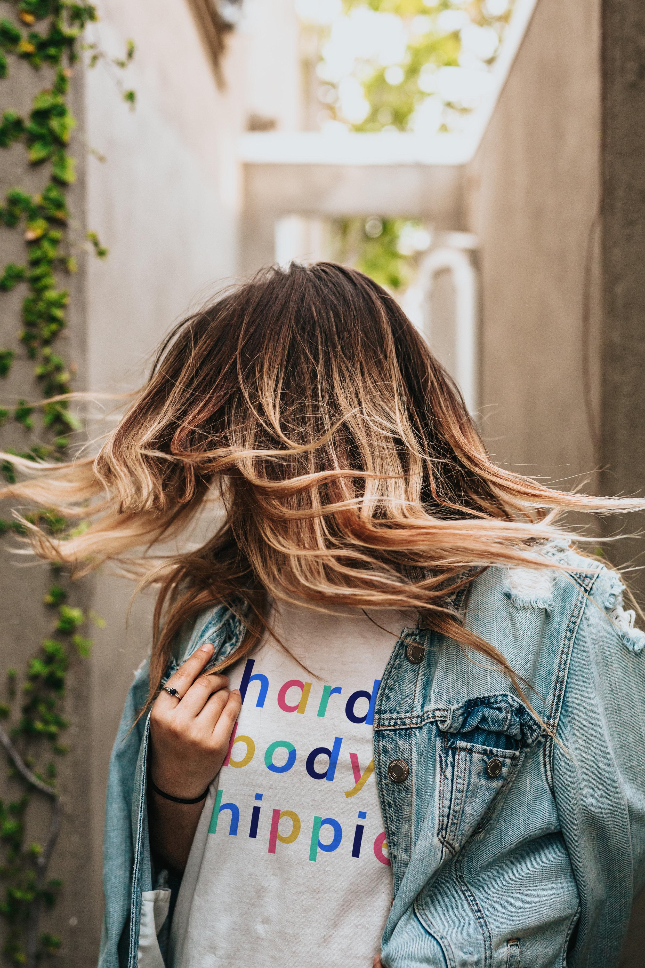 Hardbody Hippie Graphic T-Shirt Womens Leisure Apparel High-Quality and Soft