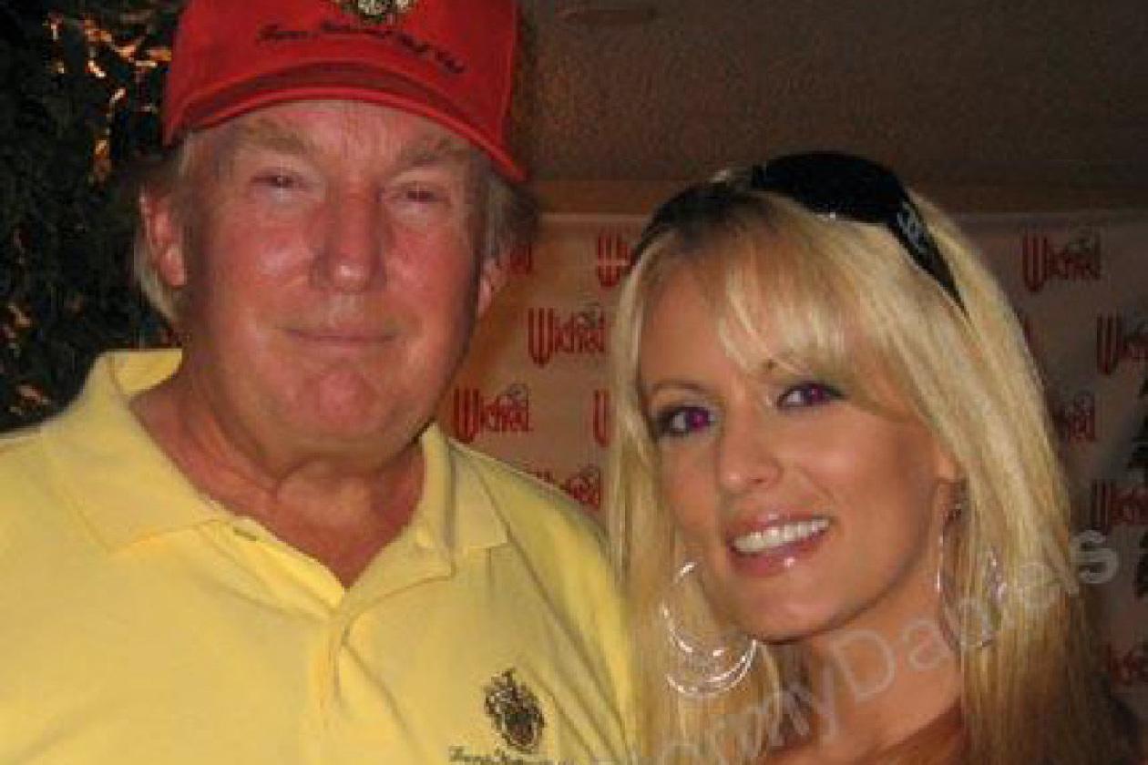Trump and Daniels in 2006