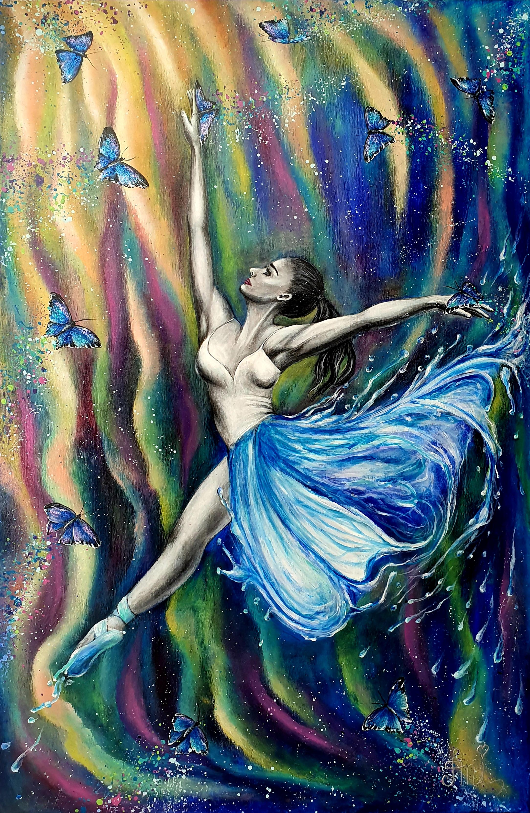 Une dernière danse:  Peinture acrylique sur toile, 115cm x 75cm  Prix: 1250€ + frais de port