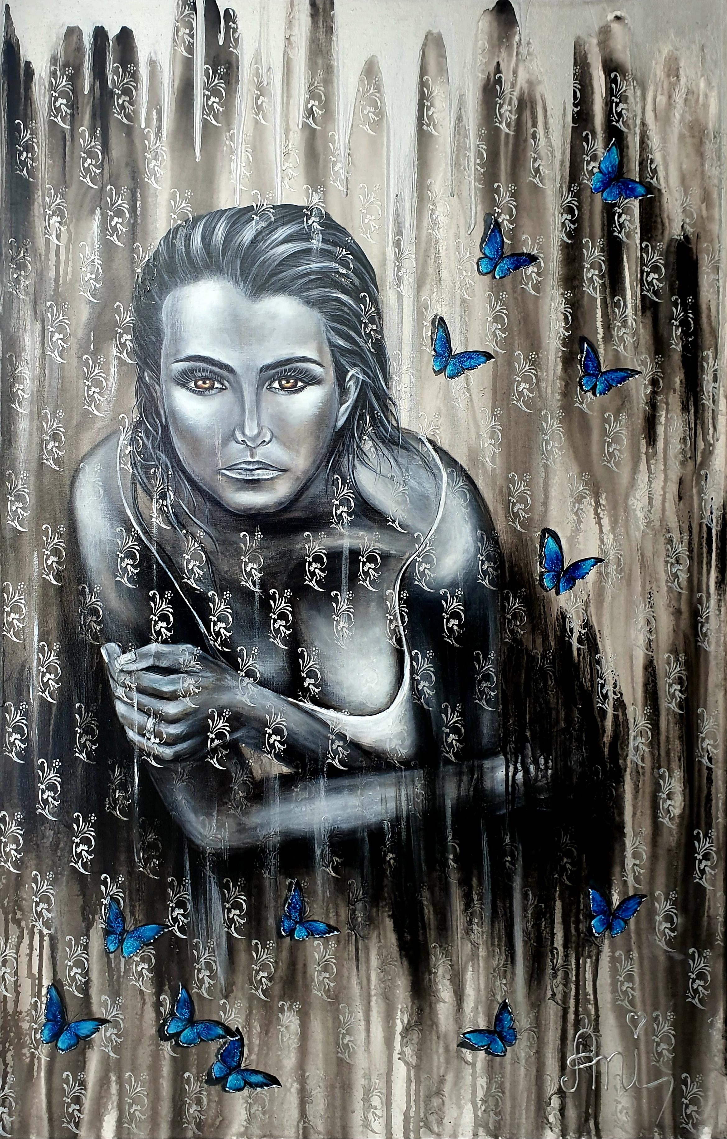 La sensualité:  Peinture acrylique sur toile, 115cm x 75cm  Prix: 1250€ + frais de livraison