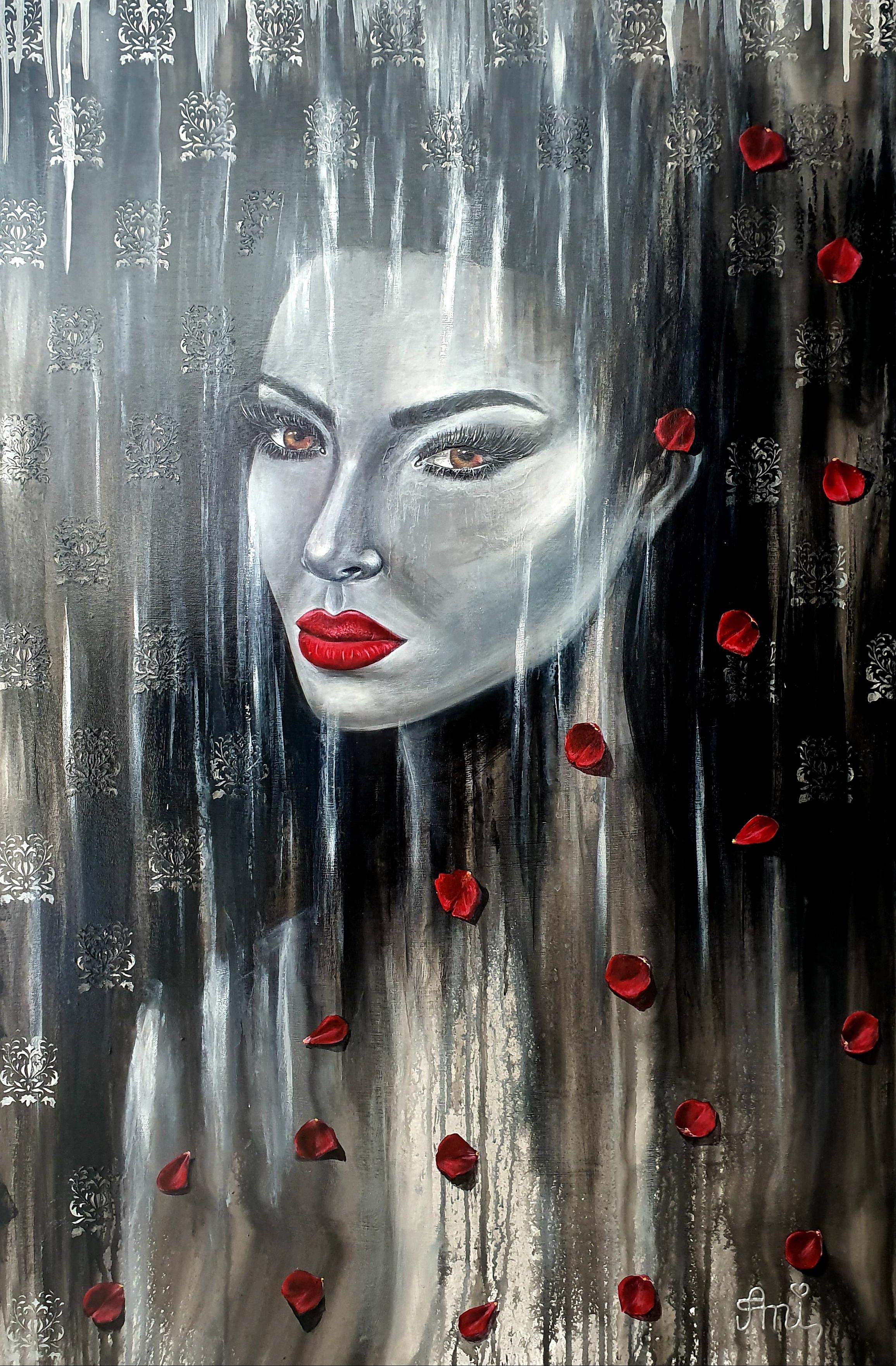 La beauté fragile:  Peinture acrylique sur toile, 115 x 75cm  Prix: 1250€ + frais de livraison