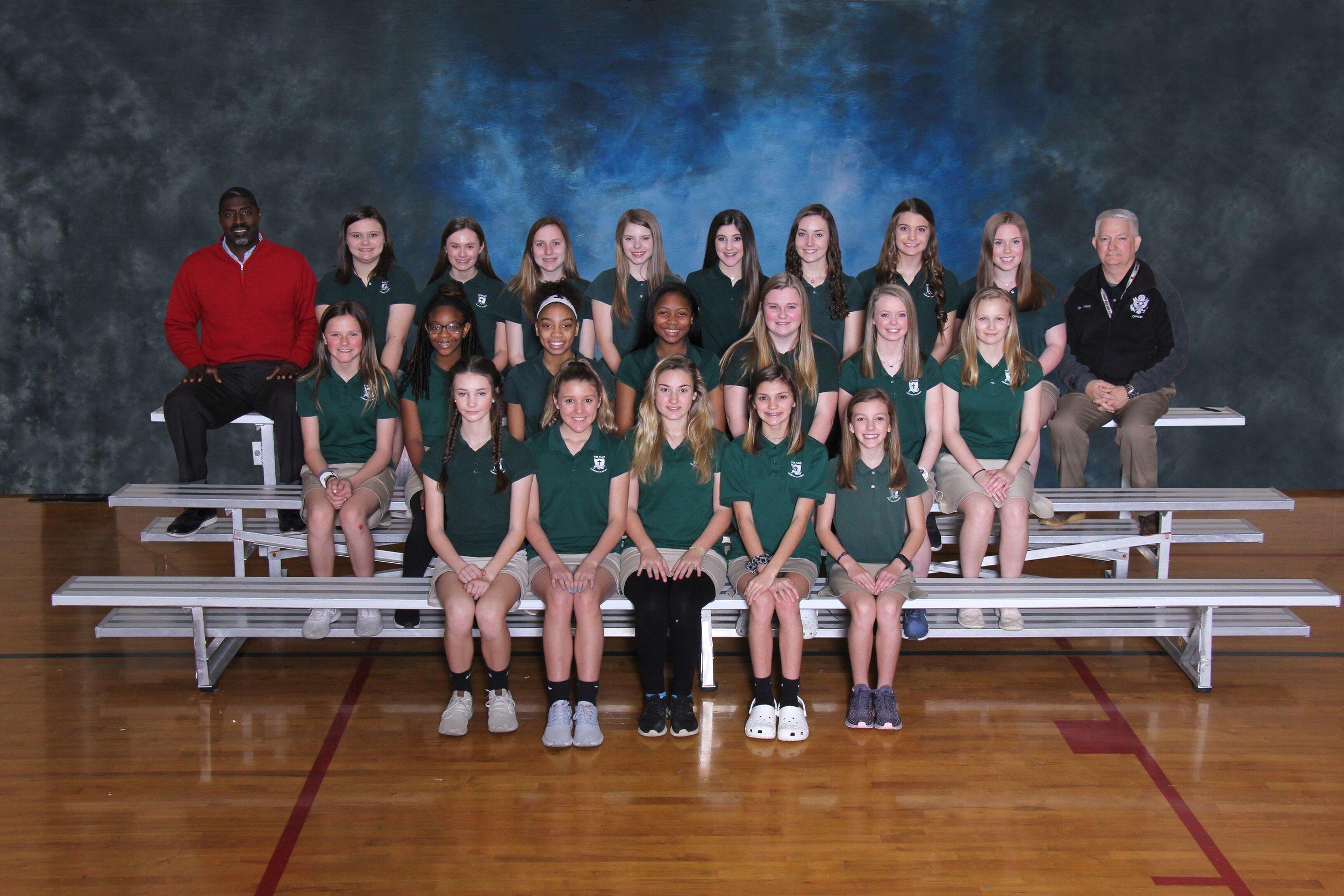 2019 JV Girls Track Team