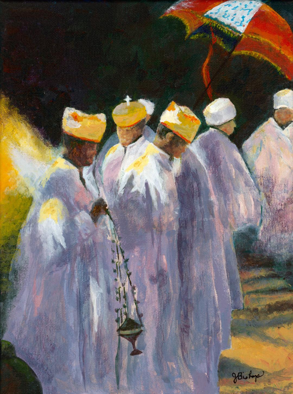 Ethiopian Priests by Judy Bishop