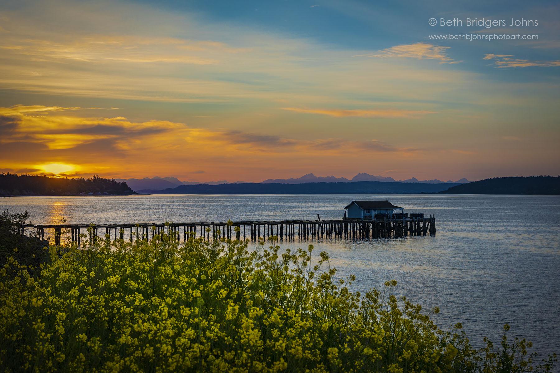 Yellow Sunrise at San de Fuca Sunrise