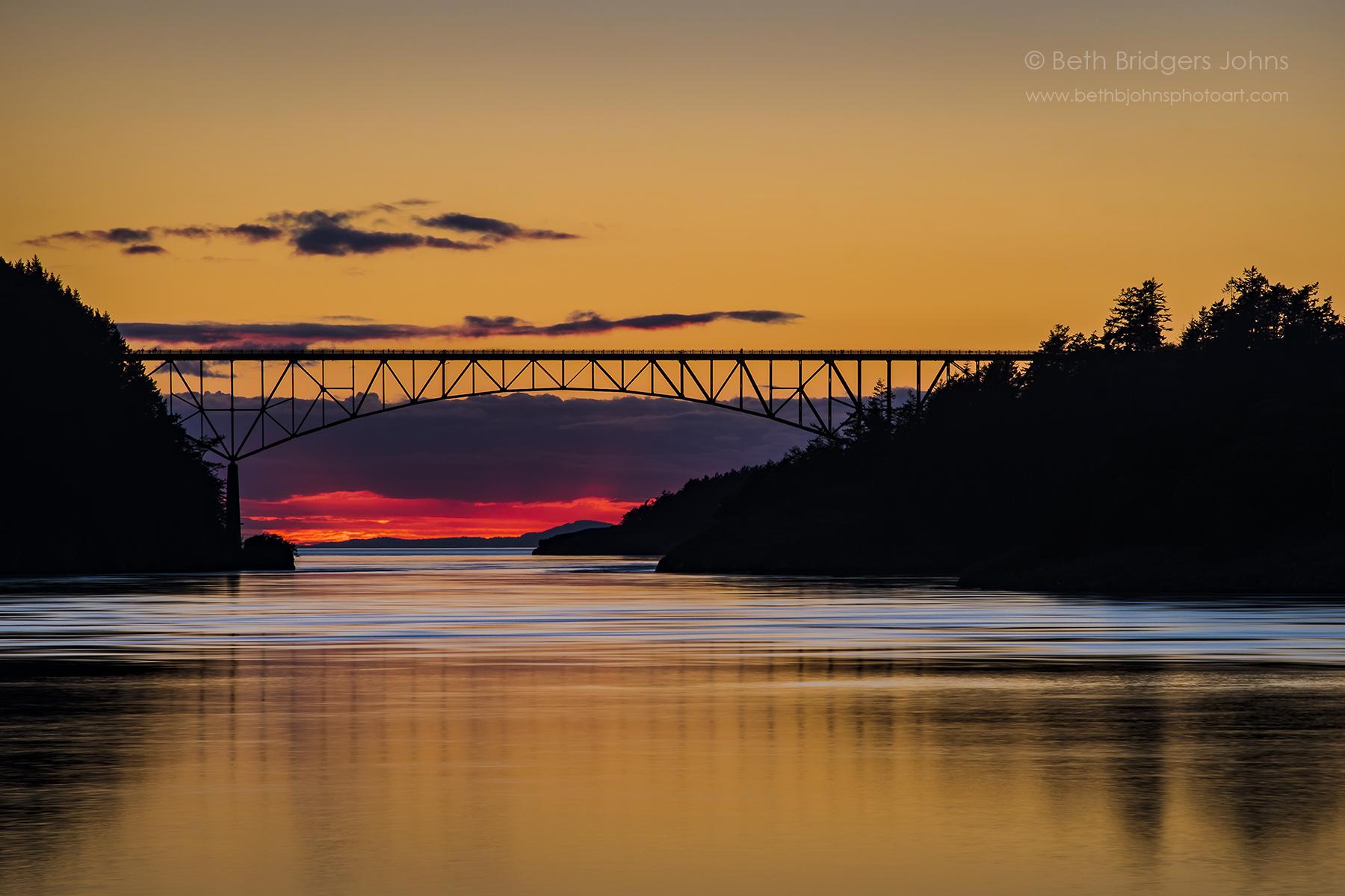 Deception Pass Bridge Sunset 2
