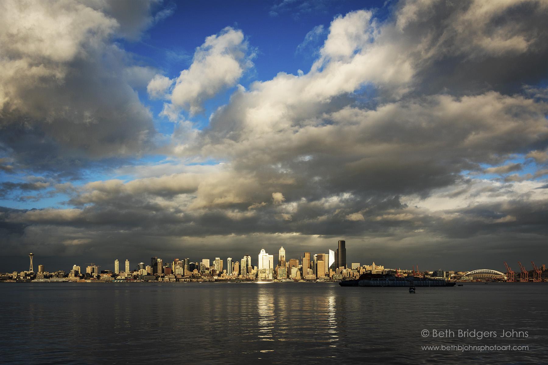 Seattle Under Clouds
