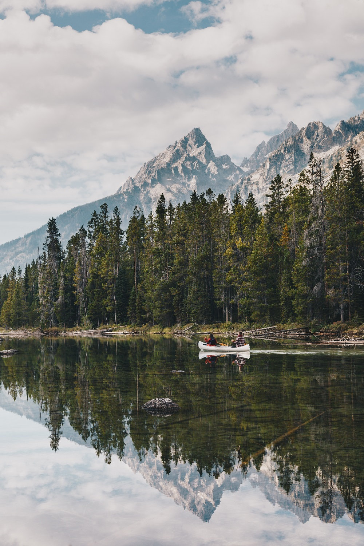 The Tetons Canoeing
