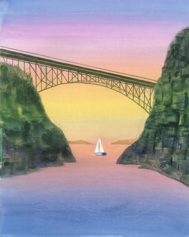 Canoe Pass Sunset