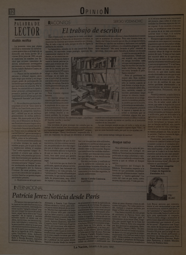 columnas en diario la nación -