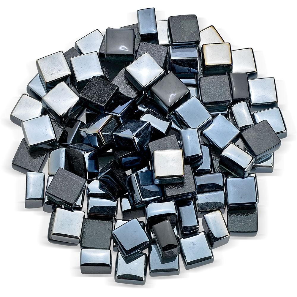 Black Luster Fireglass