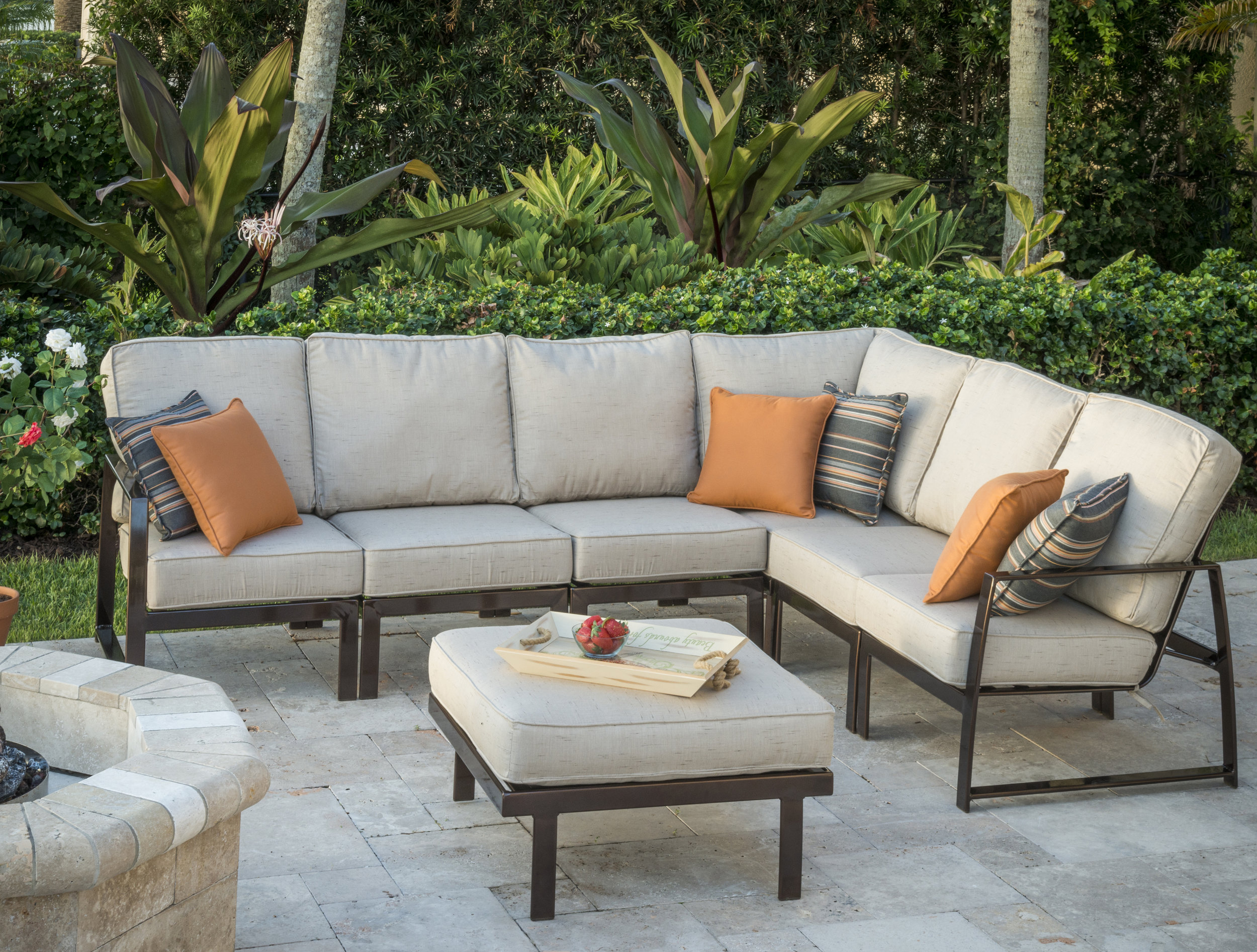 Krisp Modular Seating Collections makes great use of your outdoor space. Units can be configured in various arrangements to create your perfect outdoor area for entertaining or relaxing.