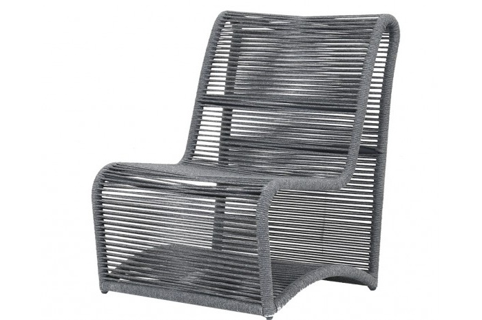 Absolute comfort is provided with its generously-sized frames and advanced seating support. The size of the pieces is visually lightened with the thoughtful striated rope design, clean lines and perfectly placed angles.