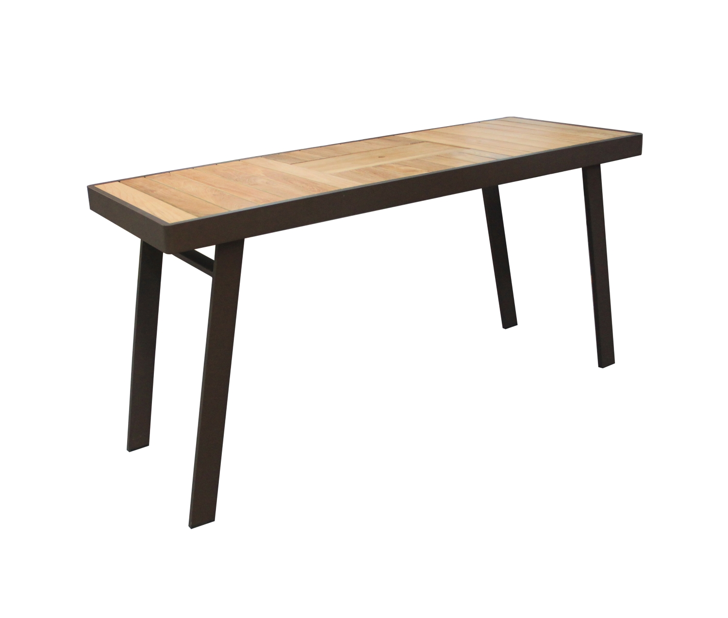 St. Lucia Counter Table with teak top