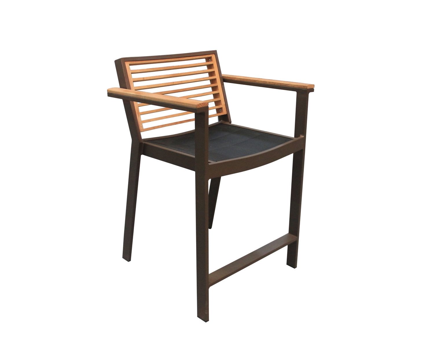 St. Lucia Counter Height Chair with teak back and arms