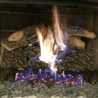 Beautiful gas logs to match any decor.