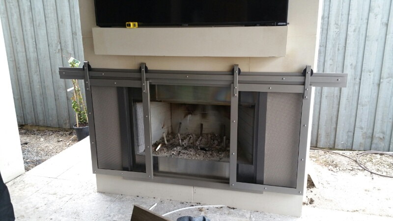 Sliding Fireplace Barn Door