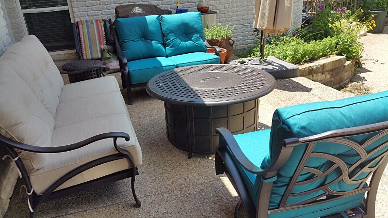 Somerset Loveseat Firepit Sofa and Swivel Club