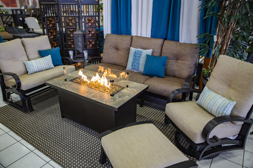Saba Yard Art Patio Fireplace