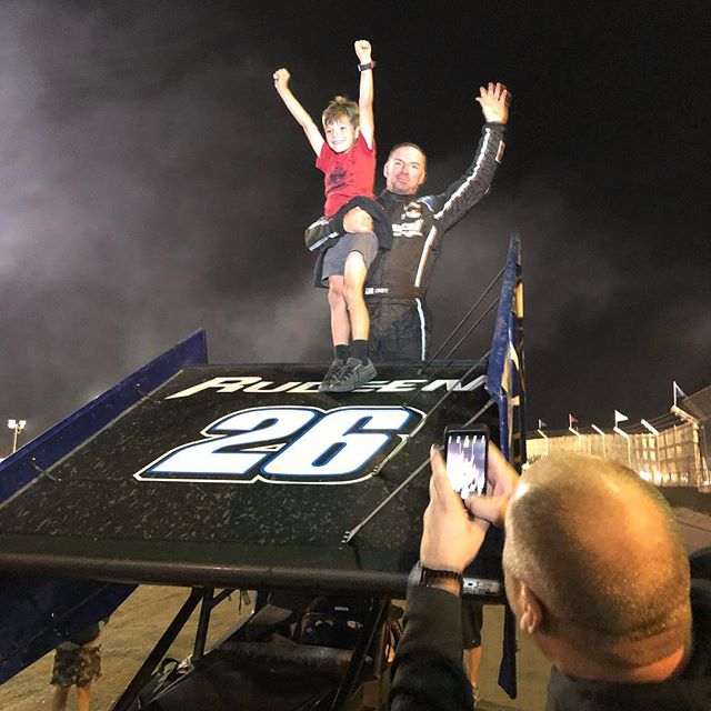 WINNING! We took home the win on the final night of the Trophy Cup! Thank you Willie Croft for driving a great 50 lap race. Also congrats to Jac Haudenschild on winning the over all Trophy Cup points. #trophycup25