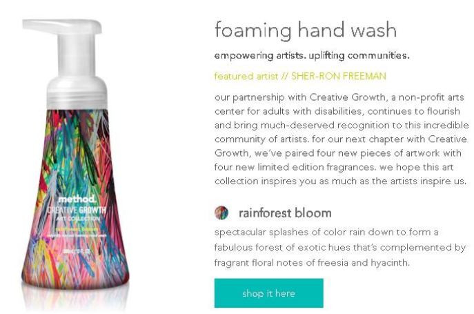 This product description is well-written and fun. It tells an interesting story and it vividly describes the scent of the product.