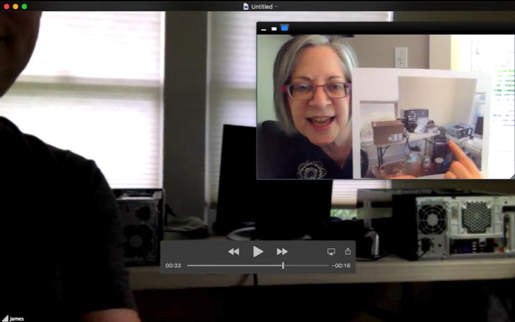 A virtual organizing session
