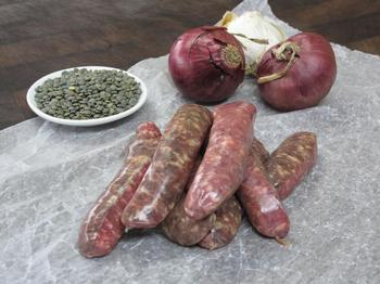 Thick-style Venison Sausages. gluten free, $22/kg or per 100 gram