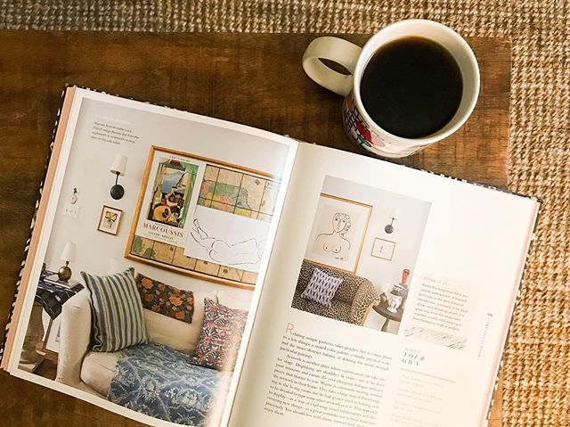 Poring over Rebecca Attwood's book Living with Pattern on this rainy Saturday morning ————— #fusionfurniture #madeinamerica #rebeccaatwood #livingwithpattern #color #livingroomdecor #textiledesign #homedecor #livingroomideas #furnituredesign