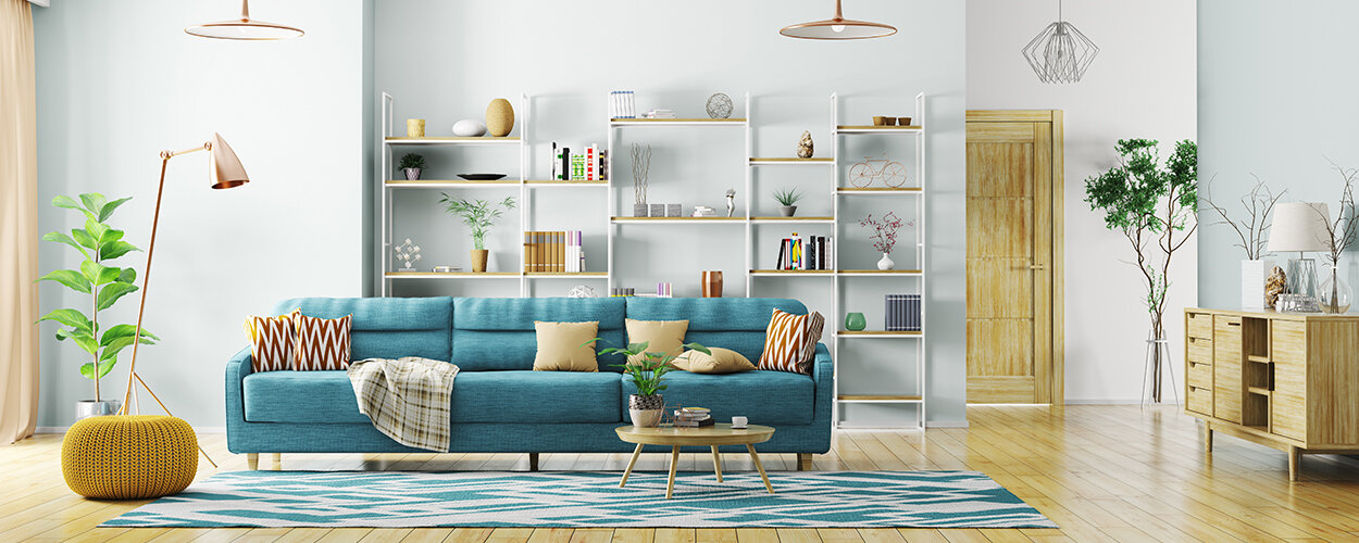 Bright living room color palette
