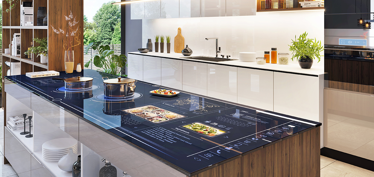 Kitchen design trend with technology