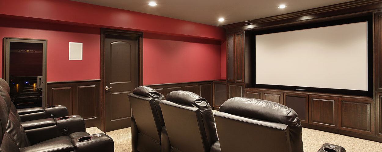In-home entertainment space