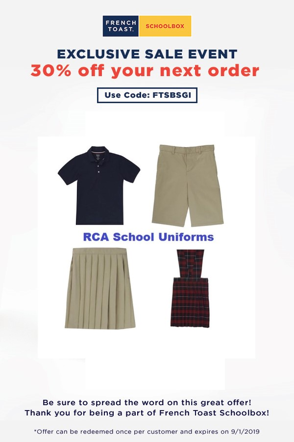 RCA French Toast Uniforms - Special Summer Promotion 2019.jpg