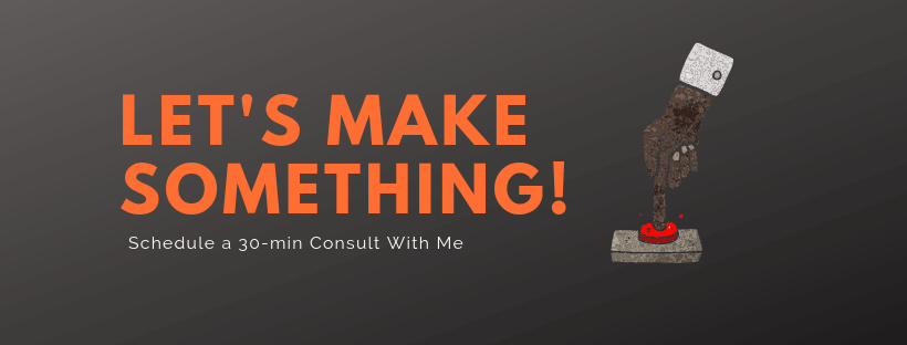 Let's make something button - SEO Content Marketing