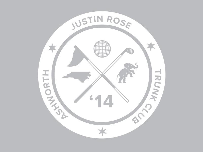 Justin Rose trunk logo