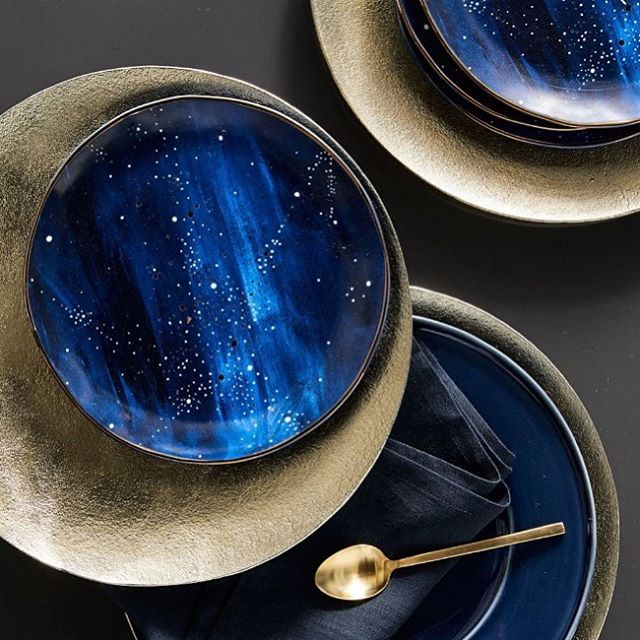 @westelm providing some serious dinnerware inspo with their Constellation Salad Plate 💙 • • • 📷 @westelm  #prophouse #prop #proprental #interiorstyling #interiorinspo #interiorstyle #homedecor #proprental #furniturerental #sustainableinteriors #ecofriendly #ahappyhome  #stylesnapsell #interiordecor #londonproperty #dinnerware #inspiredbyspace #interiorinspo #blue #blueinteriors