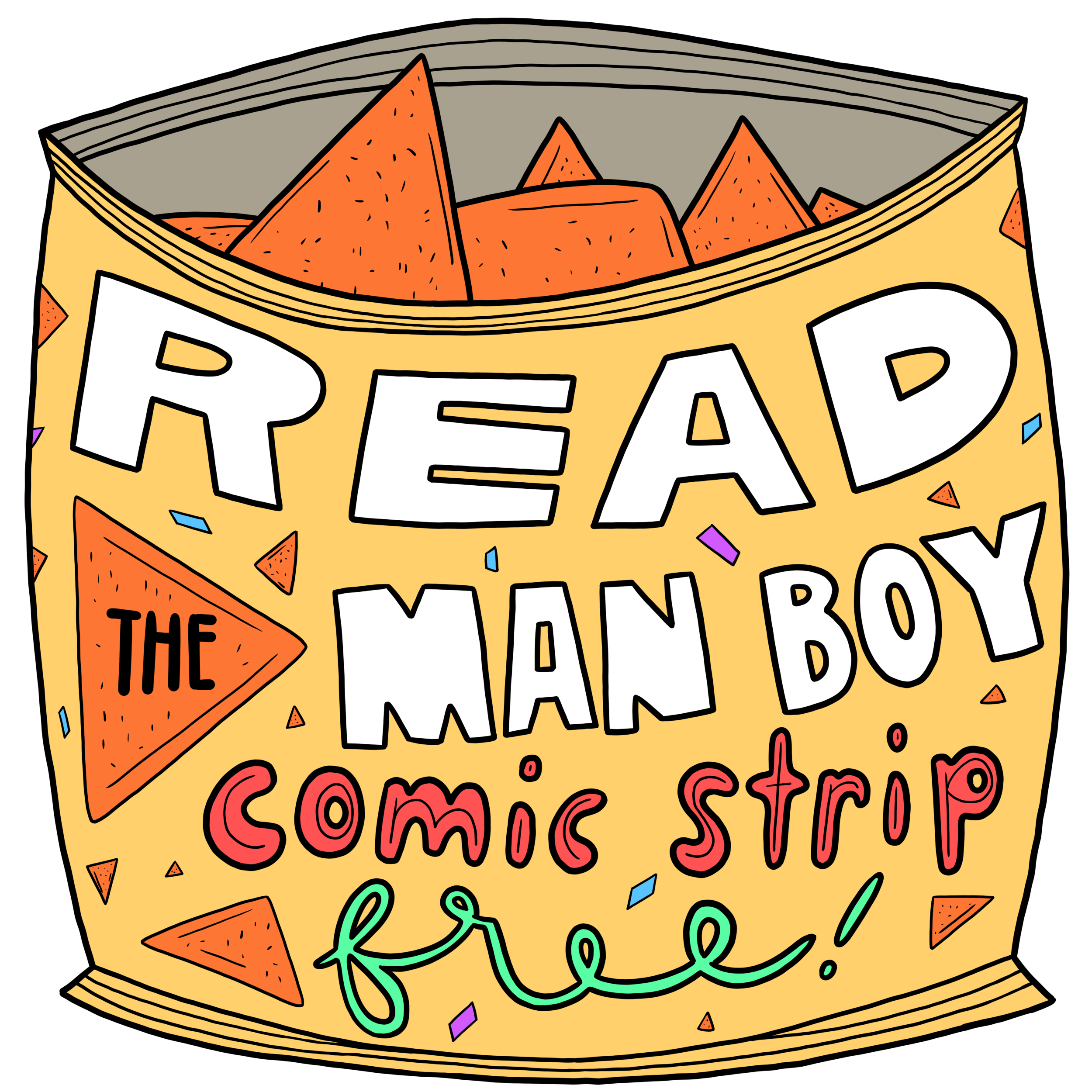 Read the Man Boy comic strips for free!