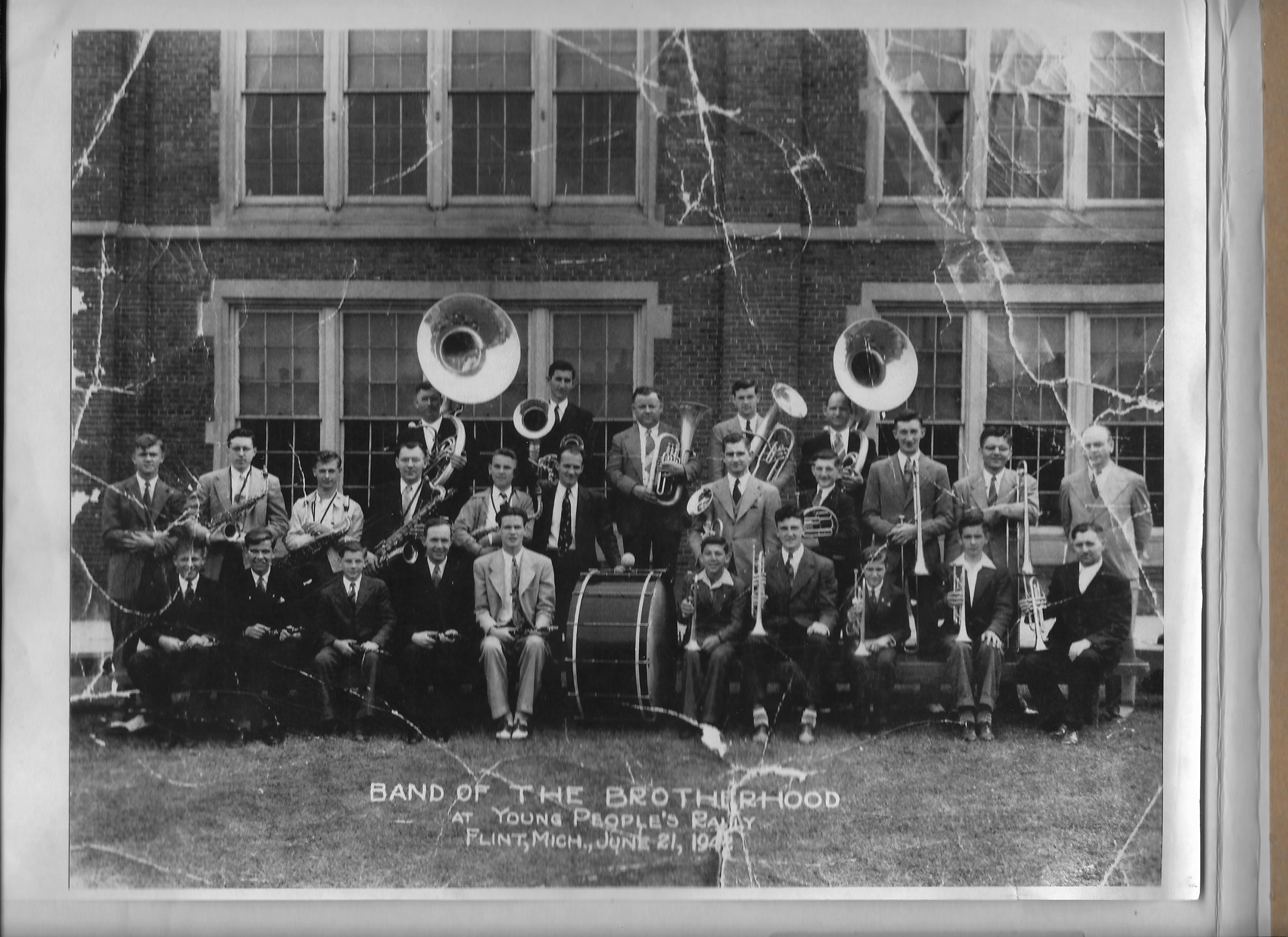 The German Brotherhood band, pictured in an unknown year in the 1940s.
