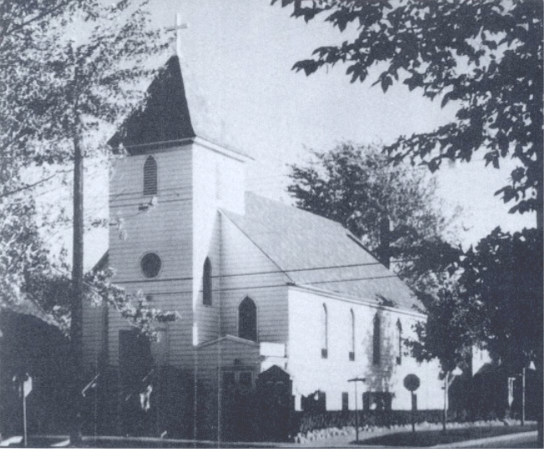 First Reformed Church's original building, pictured after its remodel in 1925. This building, on the corner of Buick and Gillespie, was at the literal and cultural center of Volga German life in the years after the migration.