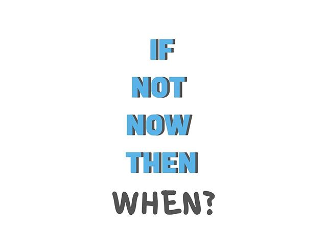 If not now, then WHEN? ⏰⁣ ⁣ Planning is a crucial stage of any business. Whether it be prior to launching a new business or taking on more clients/ jobs.⁣ ⁣ The next most import phase is taking action. Rather than ponder on all possible outcomes and weigh up the 'if, buts or maybes', taking a step towards new opportunities and learning from the experience is a much more effective approach. #promotialdigital