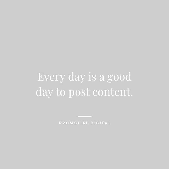 #TuesdayTips - Posting Content⁣ ⁣ There is no reason why every business shouldn't be posting content daily or multiple times a week.⁣ ⁣ Launching a successful marketing campaign with content is the goal of any small business that wants to grow and build a solid customer base. Without having content and getting the attention of potential consumers, there are slim chances of creating a long term business in todays market.⁣ ⁣ The benefits of posting content:⁣ ⁣ - Brand awareness⁣ - Customer engagement⁣ - Website traffic⁣ - Competitive advantage⁣ - Increase social media visibility⁣ ⁣ At the end of the day, strategy or no strategy, posting some form of content is better than nothing at all. Start somewhere and build from it. #promotialdigital