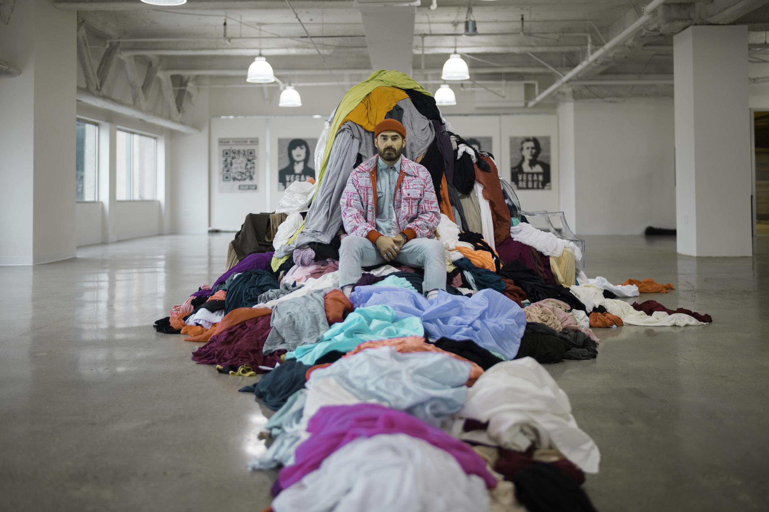 "Photo & Art Installation ""Trash Queen"" by Nicole Blue"
