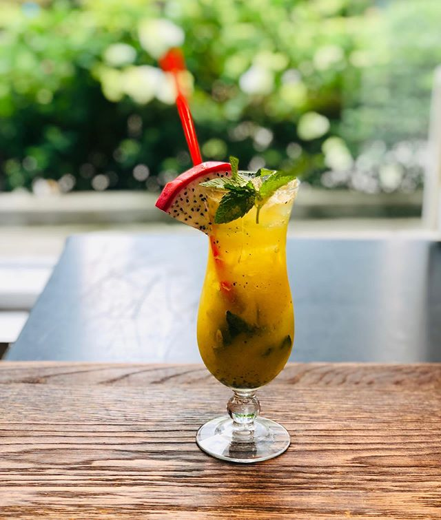Good Morning Eggy fans join us for a fantastic breakfast and keep yourself refreshed in this real hot weather with our Summer Special Mango Dragon Fruit Mojito!  #dragonfruitmojito #mojito #breakfastofchamps #eggychi #eggys #cocktailohclock #summer2019
