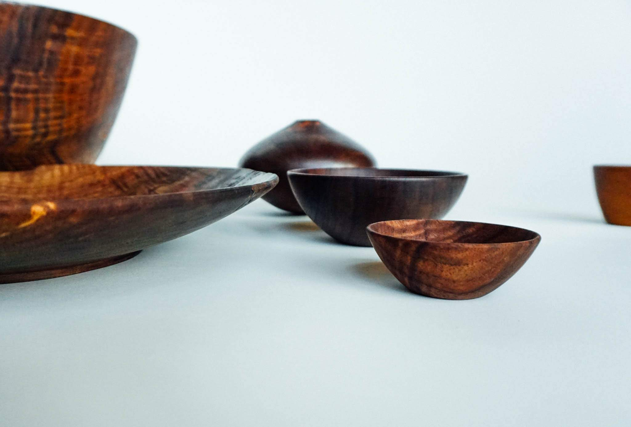 A collection of figured black walnut.