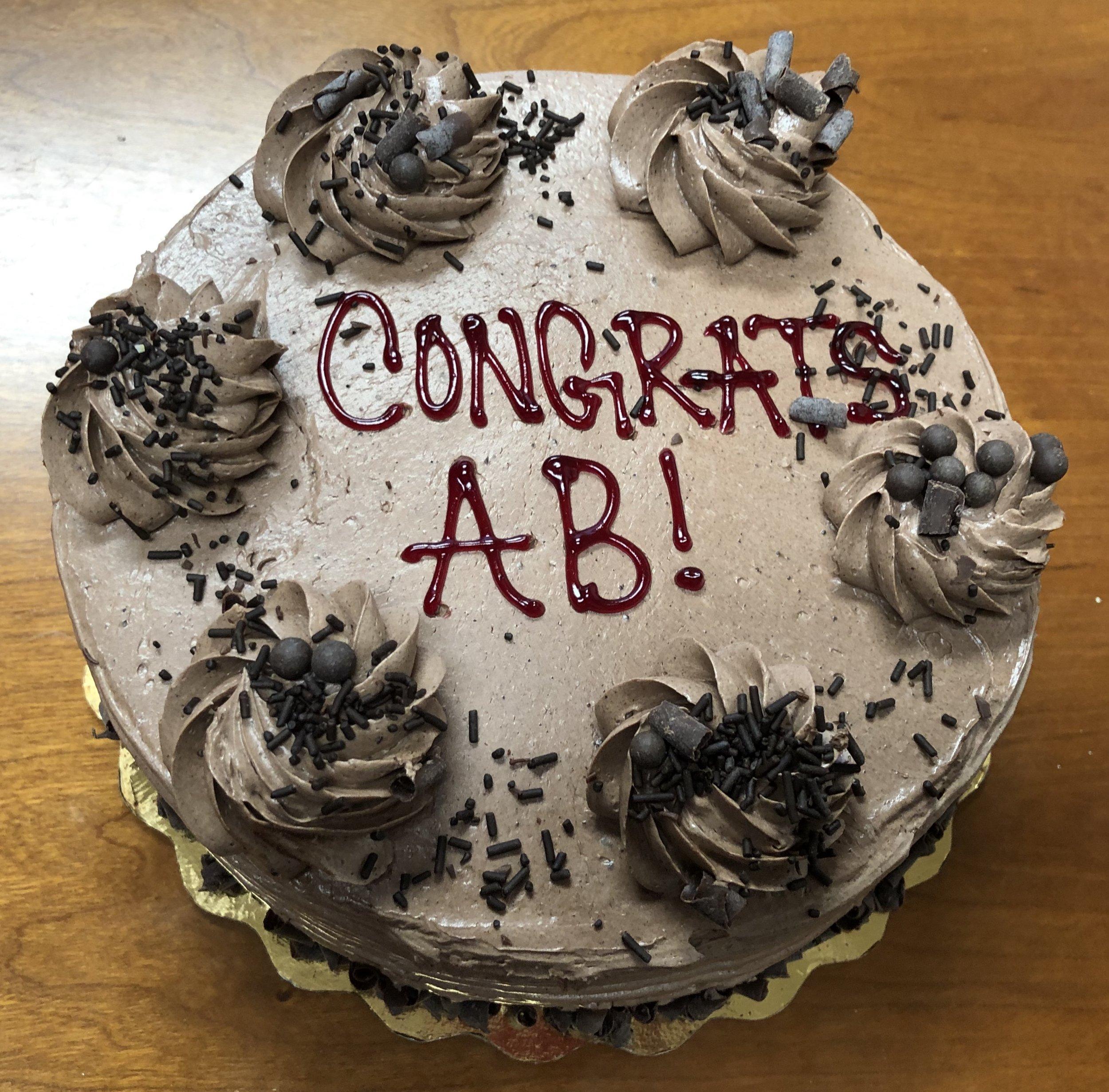 Congratulations Angelica …
