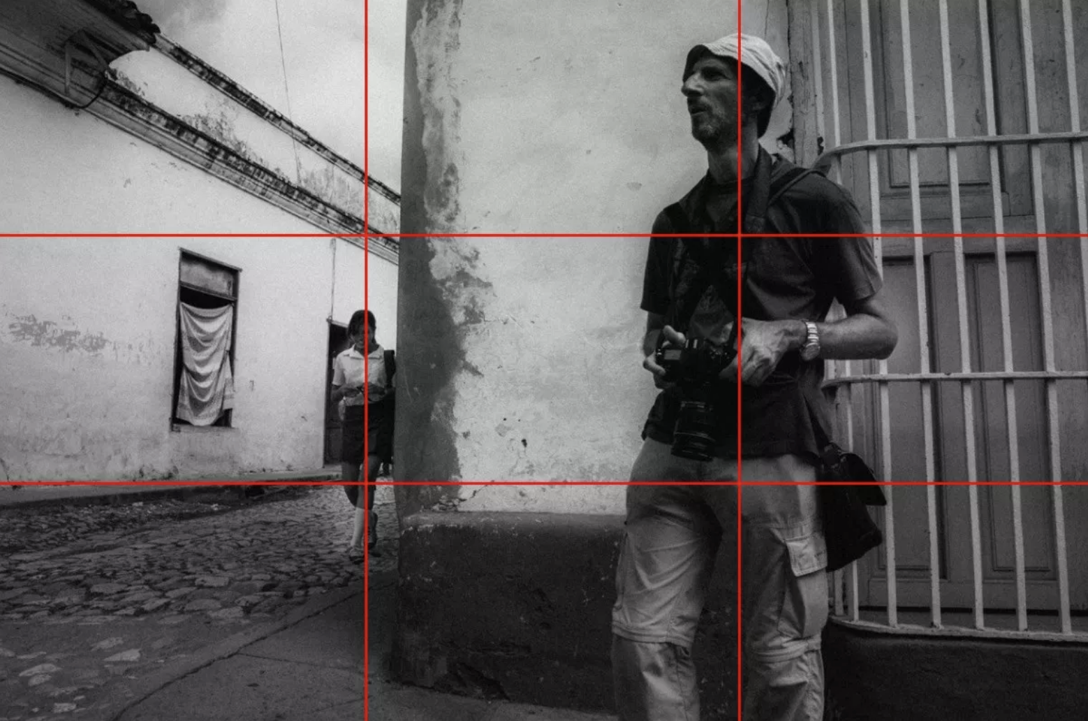 Rule of thirds method is about placing important objects or lines along or intersections of the rule of thirds grid.